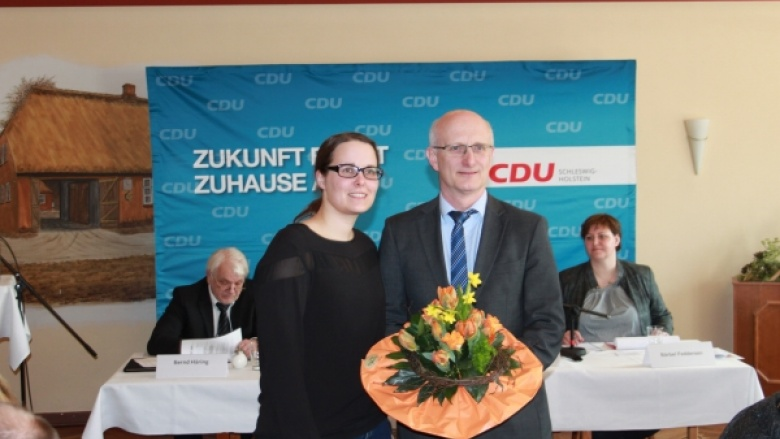 Kreisvorsitzende Astrid Damerow: Herzlichen Glückwunsch Ingbert Liebing und Klaus Jensen