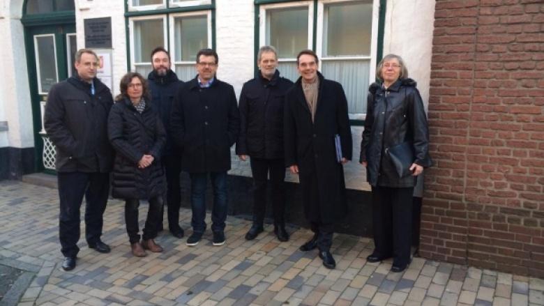 Ingbert Liebing, MdB informiert sich in Husum über das Städtebauförderungsprojekt KIQ
