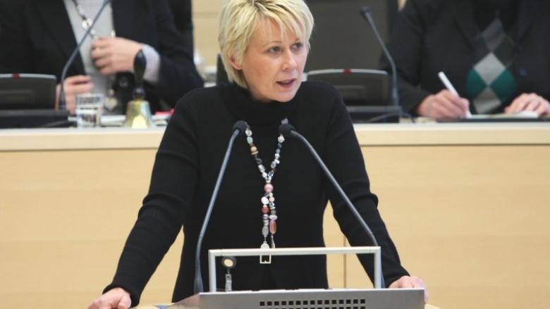 Während einer Landtagsdebatte